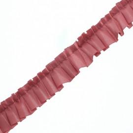 Galon Plissé Polyester Aura - Vieux Rose x 1m