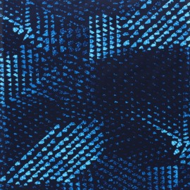 Swimsuit Lycra fabric - blue Snake x 10cm