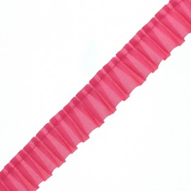 Polyester Pleated Trim - Fuchsia Aura x 1m