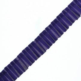Galon Plissé Polyester Aura - Encre x 1m