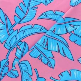 Swimsuit Lycra fabric - Pink Banana Split x 10cm