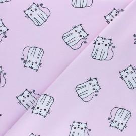 Tissu jersey P'tit Chat - rose x 10cm