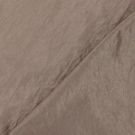 Tissu taffetas uni brun x 10cm