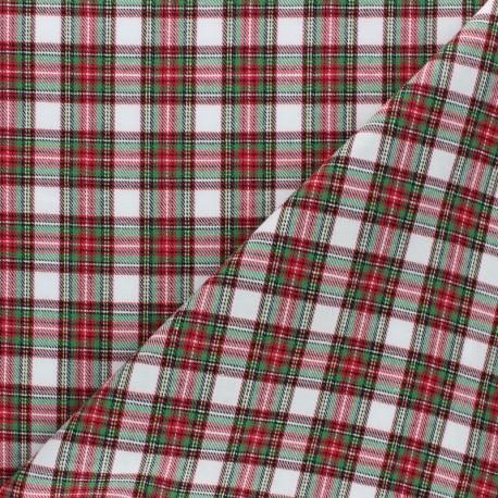 Scratched cotton fabric - white Aberdeen x 10cm