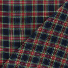 Tissu coton gratté Aberdeen - bleu x 10cm