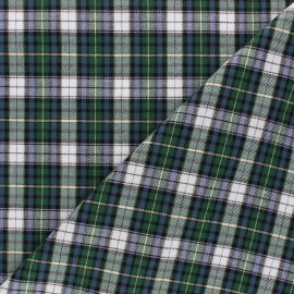 Tissu coton gratté Aberdeen - vert x 10cm