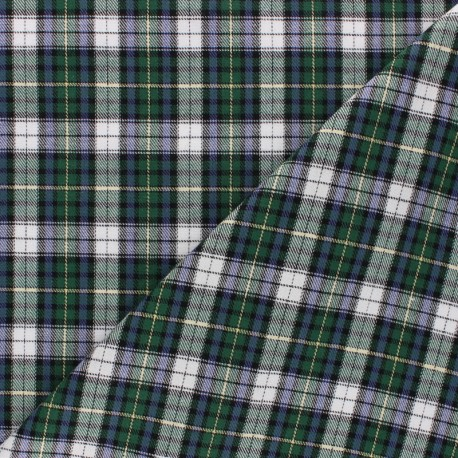 Scratched cotton fabric - green Aberdeen x 10cm