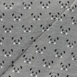 Tissu sweat léger Panda - gris x 10cm