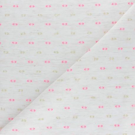 Plumetis Cotton voile Fabric - khaki green x 10cm