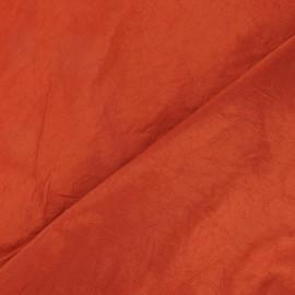 Tissu taffetas uni brique x 10cm