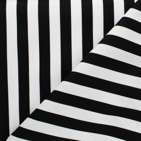 Striped twill Cotton Fabric - Red Grand Malo x 10cm