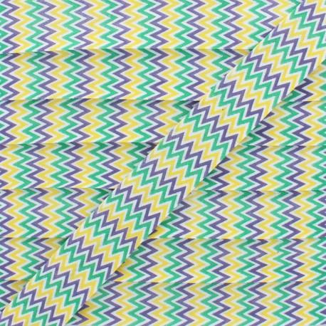 20 mm Polycotton Bias Binding - Yellow Chevron x 1m