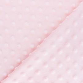 Oeko-tex minkee velvet fabric dot - soft pink x 10cm