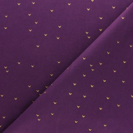 Tissu Hoffman Fabrics Batiks Me+You - Blanc/doré x 10cm