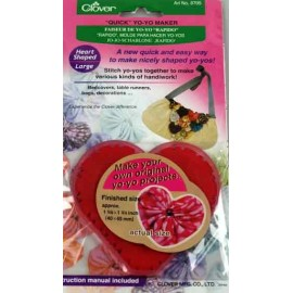 Yo-yo maker 40 mm x 45 mm, heart-shaped - red