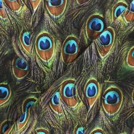 Tissu Hoffman Fabrics Proud as a Peacock - vert x 10cm