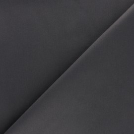 Satiny Lycra Gabardine Fabric - Lead grey x 10cm