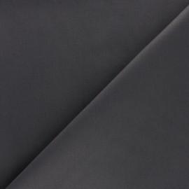 Tissu Gabardine Lycra satiné - gris plomb x 10cm