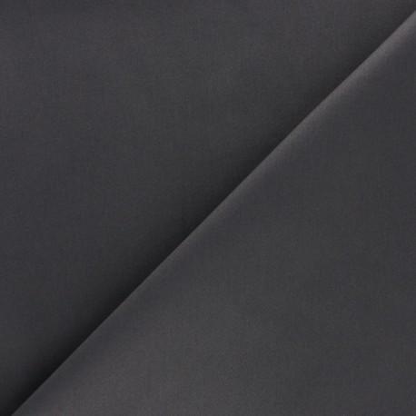 Satiny Lycra Gabardine Fabric - Lead grey x 10cm