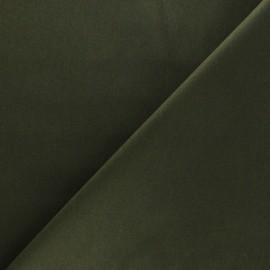 Satiny Lycra Gabardine Fabric - Khaki green x 10cm