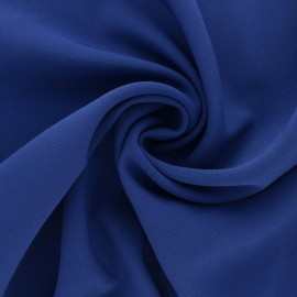 Plain Crepe fabric - Royal blue x 10cm