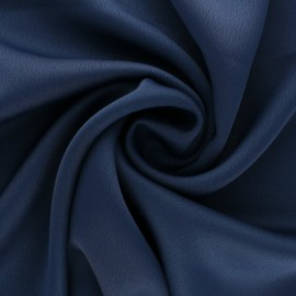 Tissu crêpe uni - bleu de minuit x 10cm