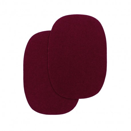 Buckskin aspect sew-on Elbow and knee patch - garnet red