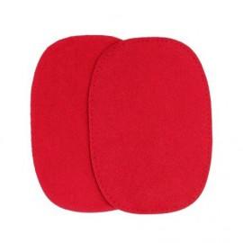 Imitation buckskin elbow patch - crimson