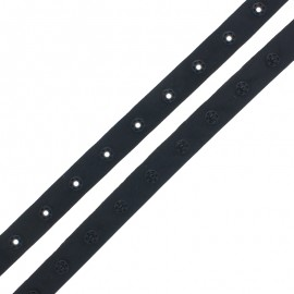 Snap Fastener Polyester Ribbon - Black x 1m