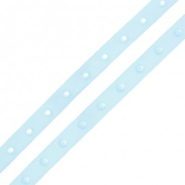Snap Fastener Polyester Ribbon - Sky Blue x 1m