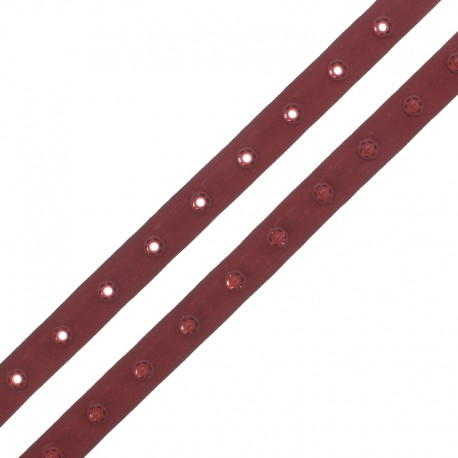 Snap Fastener Polyester Ribbon - Red Desert x 1m