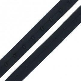 Agrafes sur Bande Lingerie - Noir x 50cm