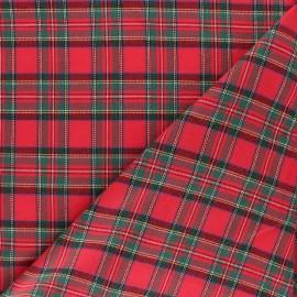 Tissu coton gratté Aberdeen - Rouge x 10cm
