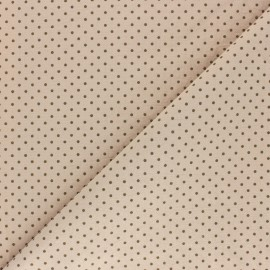 Dotted Washed cotton fabric - Green grey x 10cm