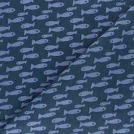 Tissu Double Gaze de coton Rico Design - Champs de fleurs - blanc x10cm