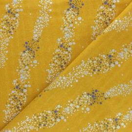 Rico Design double Gauze cotton fabric - Yellow Bubble x 10cm