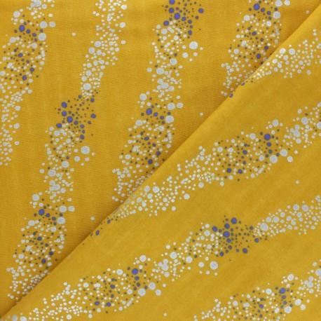 Tissu Double Gaze de coton Rico Design - Bubbles - jaune x10cm