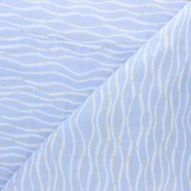 Rico Design double Gauze cotton fabric - light lilac Wave x 10cm