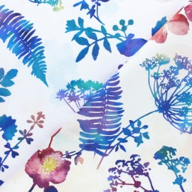 Hoffman cotton fabrics - White Electric Garden x 10cm