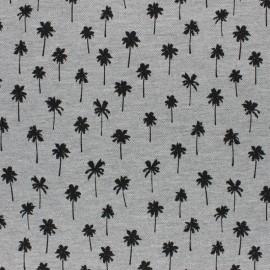 Tissu jersey piqué spécial Polo Ananas - gris chiné x 10cm