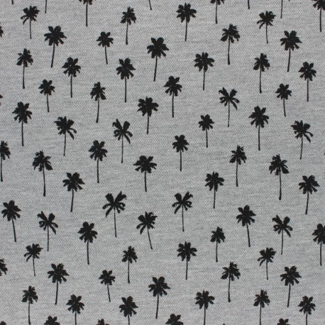 Special Polo cotton fabric - grey Pineapple x 10cm