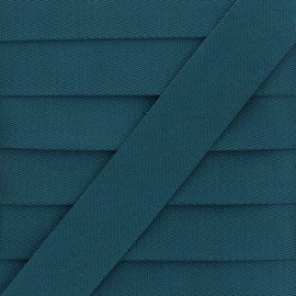 Plain Polyester Strap - Petrol Blue x 1m