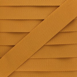 Plain Polyester Strap - Mustard x 1m
