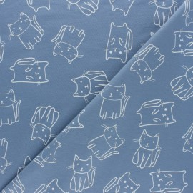 Jersey fabric - Cream Elephant x 10cm