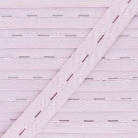 Elastique Boutonnière 20 mm - Rose Dragée x 1m