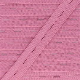 Elastique Boutonnière 20 mm - Rose x 1m