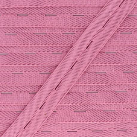 20 mm Elastic Buttonhole - Pink x 1m