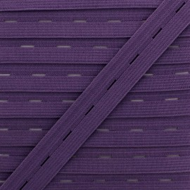 20 mm Elastic Buttonhole - Purple x 1m