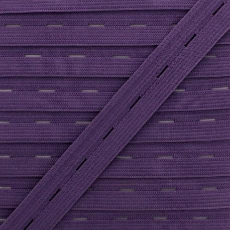 20 mm Elastic Buttonhole - Purple x 1m
