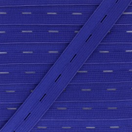 20 mm Elastic Buttonhole - Royal Blue x 1m